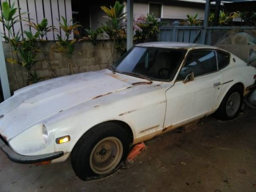 1972 Datsun 240Z Project V6 Manual For Sale in Mililani ...